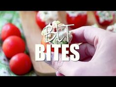 These BLT Bites are tomatoes stuffed with bacon, lettuce in a creamy filling. It tastes just like your favorite BLT in a delicious, low carb appetizer! No Cook Appetizers, Recipes Appetizers And Snacks, Appetizers For Party, Appetizer Ideas, Keto Recipes, Desserts, Blt Bites, Salty Snacks, Summer Snacks