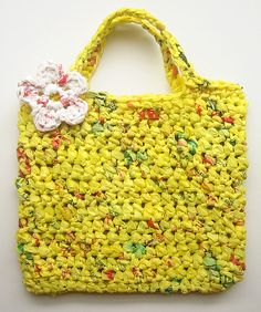 Recycled plastic bags.  Plarn!