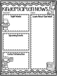 Here You Will Find More Information About My Editable Classroom - Black and white newsletter templates