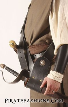 Sea Rover Leather Pirate Baldric – Pirate Fashions