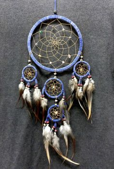 He encontrado este interesante anuncio de Etsy en https://www.etsy.com/mx/listing/232577615/dream-catcher-blue-color-wall-hanging