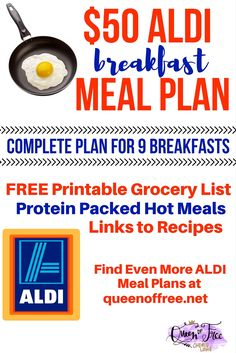WOW! I can't believe this ALDI Breakfast Meal Plan. My family will have hot breakfast for over a week for less than $50!