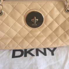 FINAL PRICE DKNY Quilted Leather Cross Body Final markdown. Price firmSoft gansevoort quilted beige leather with convertible straps. Gold chain detail and gold hardware. New, no tags, with dust cover. DKNY Bags Crossbody Bags