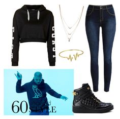 """""""Drake :))"""" by ezranderson ❤ liked on Polyvore featuring Moschino, Jessica Simpson, Bling Jewelry, Topshop, men's fashion, menswear, DRAKE, views and 60secondstyle"""