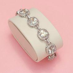 Halo Cushion Cut Bracelet