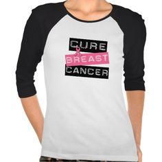 Cure Breast Cancer Tee Shirt by your store for everything cancer awareness at cancerapparelgifts.com #breastcancerawareness #breastcancershirts