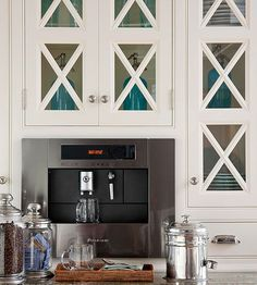 built in coffee maker is a nice kitchen feature for those of us who love built coffee bar makeover