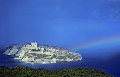 San Nicola with Rainbow - Isole Tremiti  #Tremiti #Italy