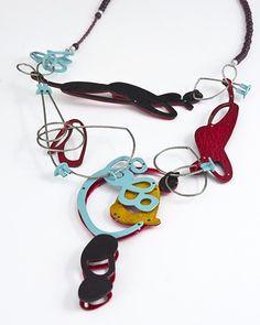 Laritza Garcia  Copper, Silver, Garnet, Fresh Water Pearls, Steel Cable, Powder Coat