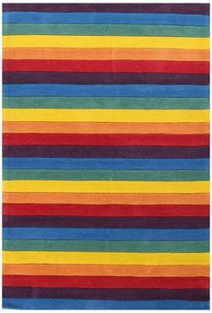 Rainbow Stripped Kids Floor Rug Available At Mega Mart Online Australia Ping