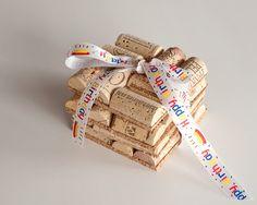 Happy Birthday Wine Cork Coasters Set of 2 Wine Cork Crafts, Birthday Gift, Happy Birthday by MaxplanationPhotos on Etsy