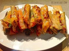 Low carb and gluten free spring rolls.  Gluten free, low carb, sugar free, wheat free, LCHF, HFLC, Banting and primal. | ditchthecarbs.com