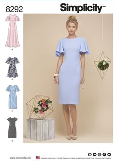 8292 Simplicity dress pattern sizes 14-22