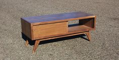 "Mid century modern TV console credenza TV stand...perfect except 72"" (not 49"")"