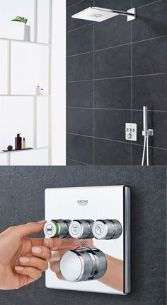 GROHE GrohTherm SmartControl modernizes the look and functionality of your shower with complete command of temperature and water  flow in one compact trim.