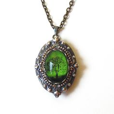 Emerald Bewitched  Locket Mother's Day Gift by TwilightsCastle, $40.00