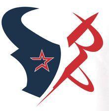 Houston sports shirt made up of Texans Astros Rockets Logos HTown Tee Texas TX