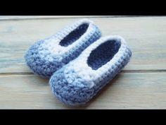 ▶ (Crochet) How To - Crochet Simple Newborn Baby Booties - YouTube