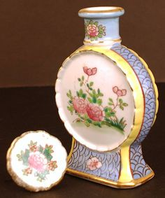 French Porcelain Scent Bottle from Paris, France and dates from around 1920-1930.