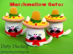 cinco de mayo marshmallow cats tutorial