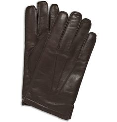 J.Crew Cashmere-Lined Leather Gloves   | MR PORTER