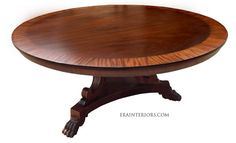 Regency Round Dining Table by ERA Interiors Custom Dining Tables, Round Dining Table, Cigar Room, Furniture Styles, Regency, House Design, Interiors, Traditional, Home Decor