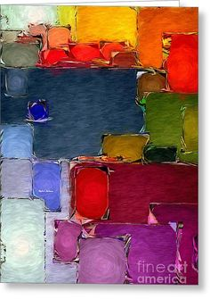 Abstract 005 Greeting Card by Rafael Salazar