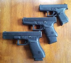 Sizes: Left: Glock .45 Model 21 Middle: Glock .45 Model 36 Upper Right: Glock .380 Model 42 Find our speedloader now!  www.raeind.com  or  http://www.amazon.com/shops/raeind