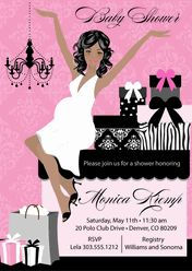 Shower of Elegant Gifts Baby Shower Invite - African-american