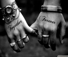Love Forever Matching Couple's Hand Tattoo Idea ❥❥❥ http://bestpickr.com/matching-couples-tattoos