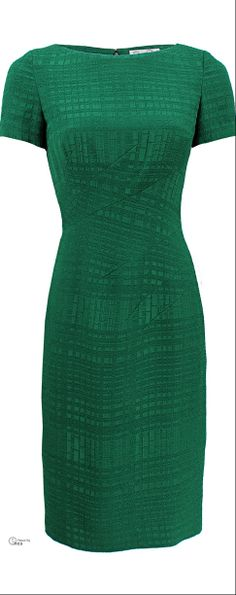 Oscar de la Renta  Green sheath dress