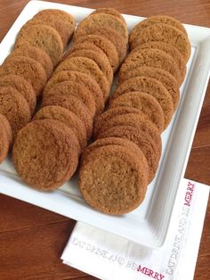 A favorite holiday cookie swap recipe for Chewy Molasses Spice Cookies. They smell amazing!