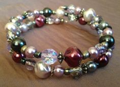 Grey Silver and Purple Custom Coil Bracelet by PeacocksandLeopards, $14.00