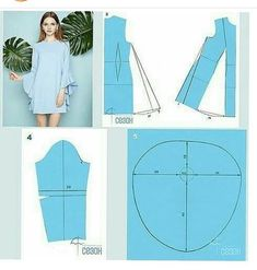 Sleeves Designs For Dresses, Sleeve Designs, Techniques Couture, Sewing Techniques, Doll Dress Patterns, Clothing Patterns, Shirt Patterns, Aya Couture, Sewing Sleeves