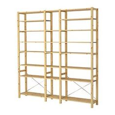 Prefect shelving unit at a decent price. I might need to take an ikea trip soon. -- IVAR 3 sections/shelves - IKEA Bathroom Shelving Unit, Ikea Shelving Unit, Open Shelving, Ikea Storage Shelves, Kitchen Shelves, Storage Ideas, Pantry Storage, Storage Spaces, Solid Pine