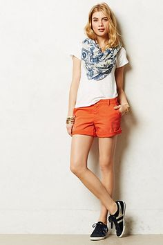 Pilcro Hyphen Chino Shorts - anthropologie.com Also like the brown (khaki) and mint colors