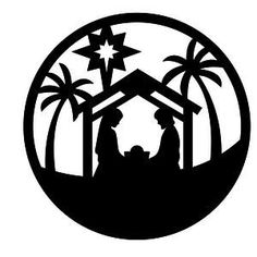 Christmas Star Clip Art Black And White The Nativity