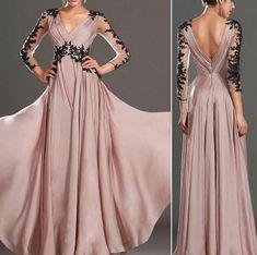 Pink Elegant Lace Wedding Banquet Dress