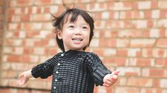The gender-neutral, waterproof outerwear from a company called Petit Pli fits children from 6 months old to 36 months.