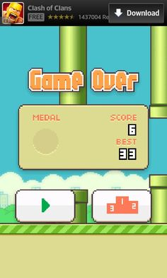 My sister and I were playing Flappy Bird at the same time, beginning and dying. We got the exact same score. #Twinpower