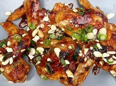 Moist chicken wings are coated in a Korean-inspired BBQ sauce in this delicious Sous Vide recipe. Broil after- no frying! Sous Vide Chicken Wings, Korean Chicken Wings, Chicken Wing Recipes, Moist Chicken, Crispy Chicken, Grilled Chicken, Sous Vide Cooking, Recipe Creator, Chicken Stuffed Peppers