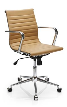 Fresno Mid Back Chair Camel Neutral Colors, Office Furniture, Wood Grain, Home Office, Two By Two, Stationery, Chair, Uni, Camel