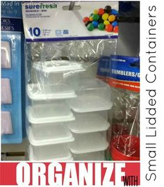 Organize Your Whole House with One Trip to the Dollar Store ~ MAD IN CRAFTS. Spare change organizers.