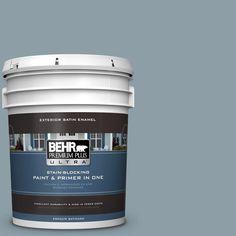 BEHR Premium Plus Ultra 5-gal. #540F-4 Shale Gray Satin Enamel Exterior Paint