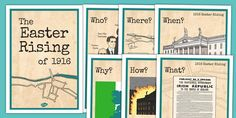 1916 Rising PowerPoint The Events - Easter 1916 Rising, irish Easter Rising, 5th Class, Art Education, Irish, Presentation, Facts, Display, Teaching, History