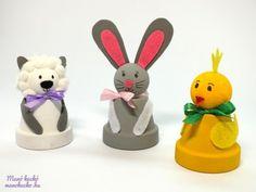 Húsvéti cserépfigurák - Manó kuckó Flower Pots, Flowers, Holidays And Events, Easter Crafts, Diy And Crafts, Kindergarten, Decor, Decorated Flower Pots, Bricolage