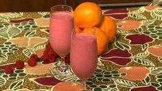 the chew   Recipe    Daphne Oz's Double Duty Raspberry Banana Smoothie