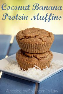 Coconut Banana Protein Muffins