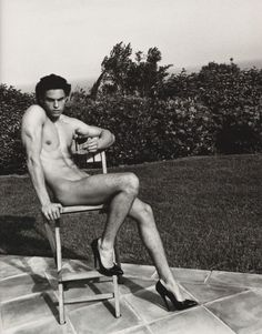Baptiste Giabiconi Gets Naked For Karl Lagerfeld in Purple