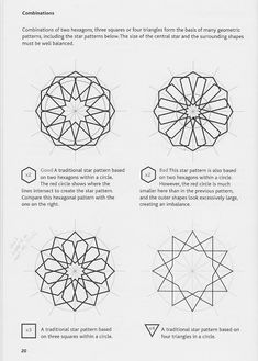 Islamic Geometric Patterns, by Eric Bourg Motifs Islamiques, Islamic Motifs, Islamic Art Pattern, Arabic Pattern, Pattern Art, Stencil Patterns, Zentangle Patterns, Pattern Drawing, Geometric Patterns